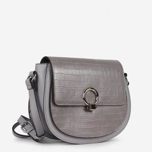 NWT Gray Shoulder Crossbody bag faux croc vegan